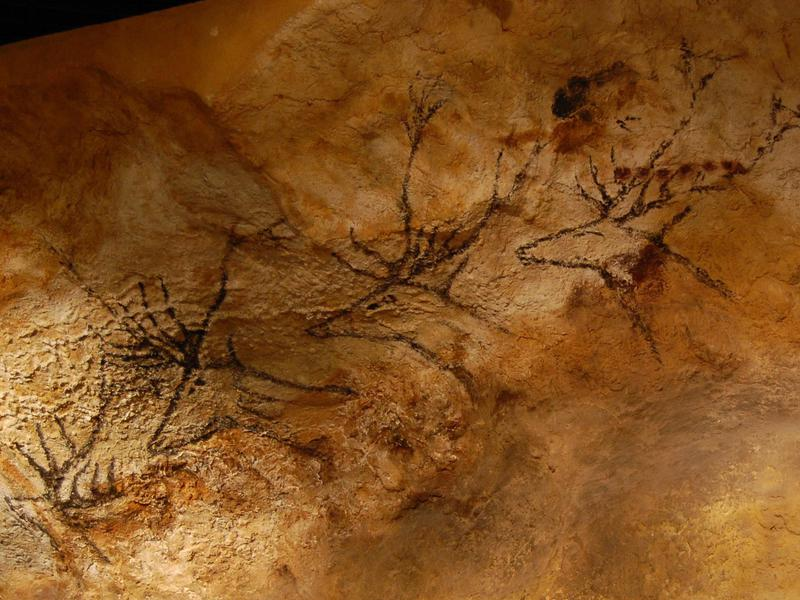 The prehistoric paintings at Lascaux Caves are incredible...and off limits. This image is a replica.