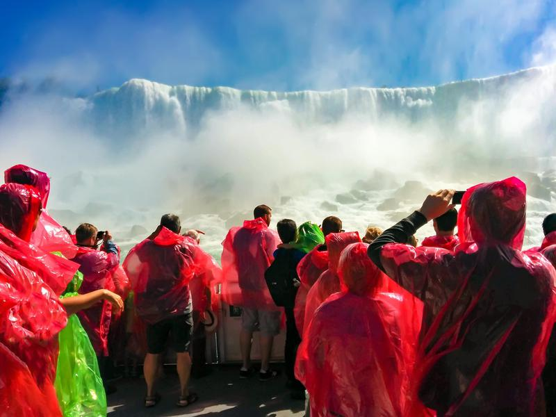 Niagara Falls boat rides are wildly popular.