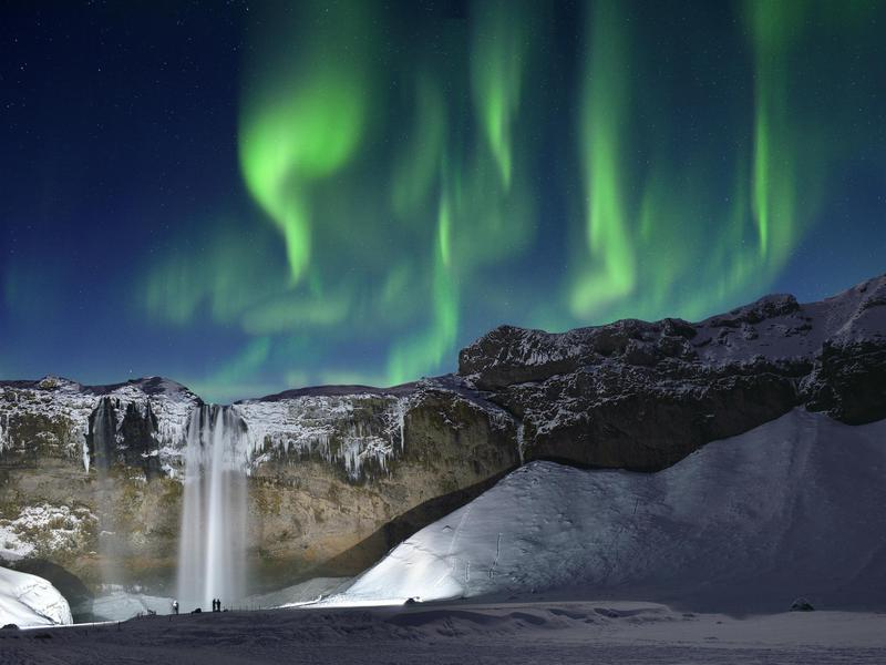 To really be wowed, check out Skogafoss when there are northern lights.