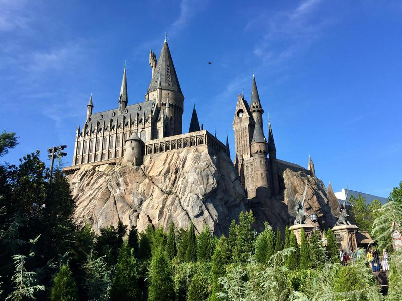 "Universal's Islands of Adventure features ""Harry Potter and the Forbidden Journey"" rollercoaster."