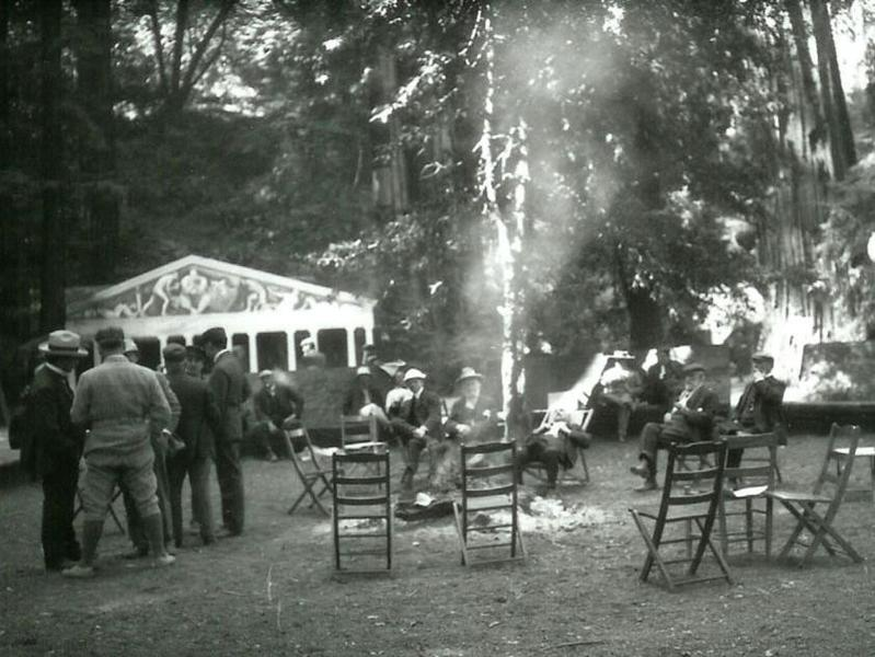 Novelist Jack London captured this rare shot of Bohemian Grove.