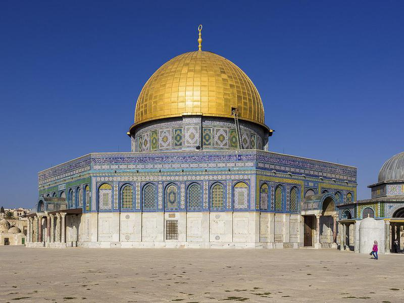 The Dome of the Rock is not completely off-limits; Muslims are allowed into the holy site.