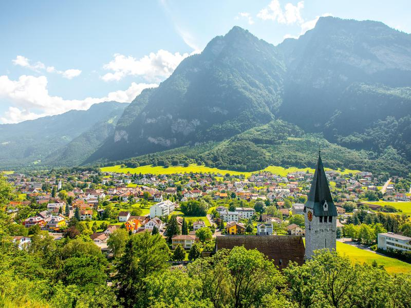Balzers, a picturesque village in Liechtenstein.