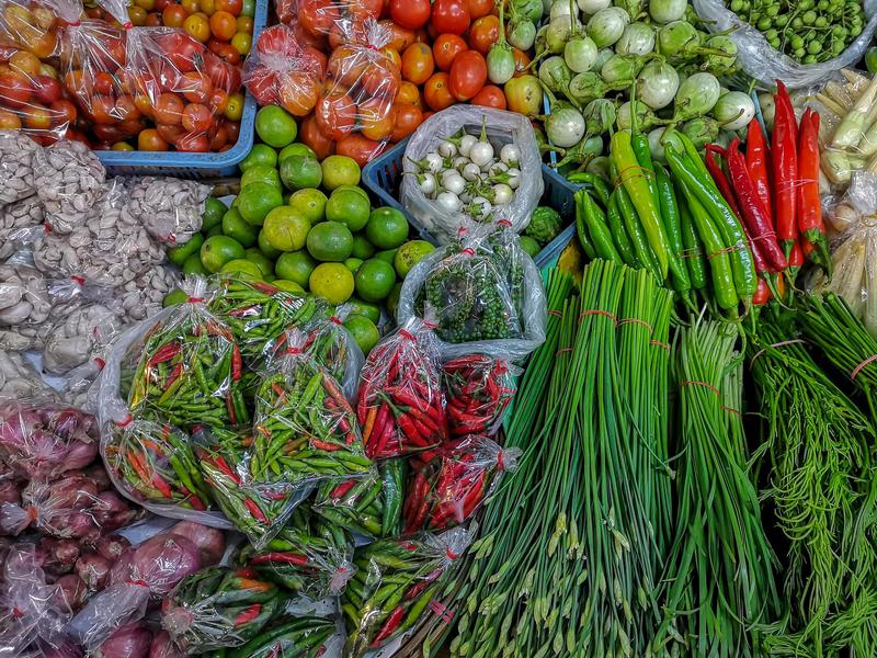In Thailand, only the freshest veggies will do.