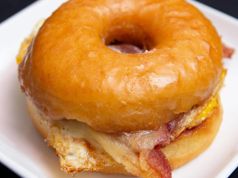 The Glazed breakfast sandwich is definitely not healthy. But when it tastes this good, who cares?