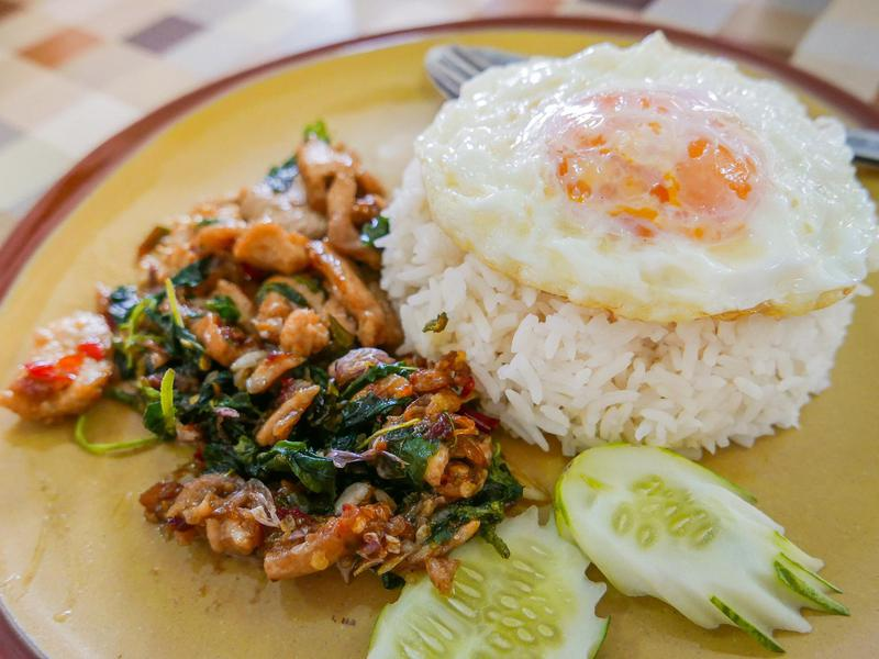 Another dish people complain Americans don't get right? Pad kra pao.
