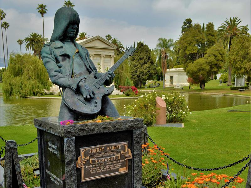 Celebrities like Johnny Ramone rest in peace at Hollywood Forever.