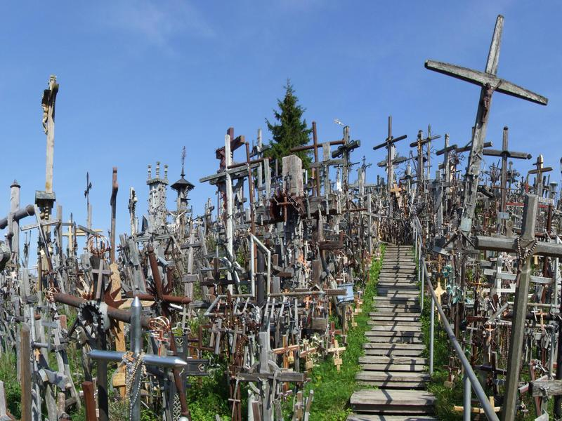 Hill of the Crosses is aptly named.
