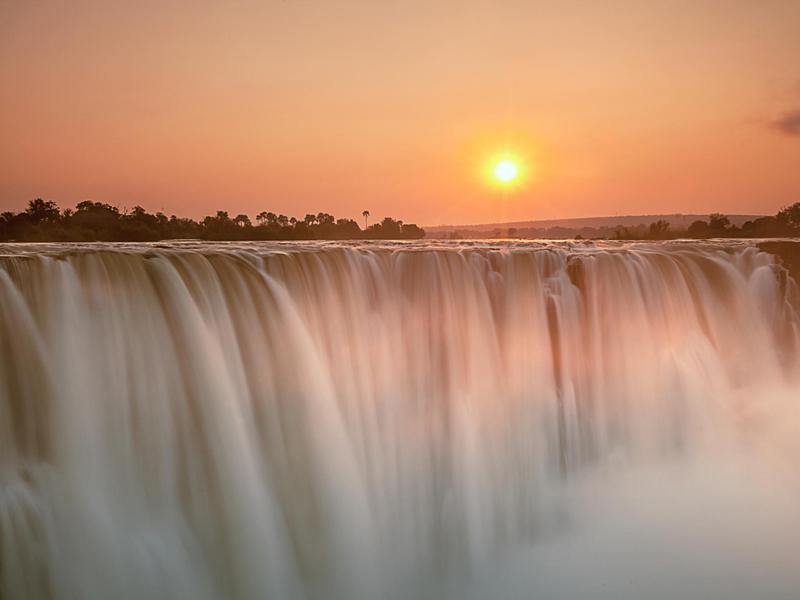 Sunrise at Victoria Falls is particularly magnificent.