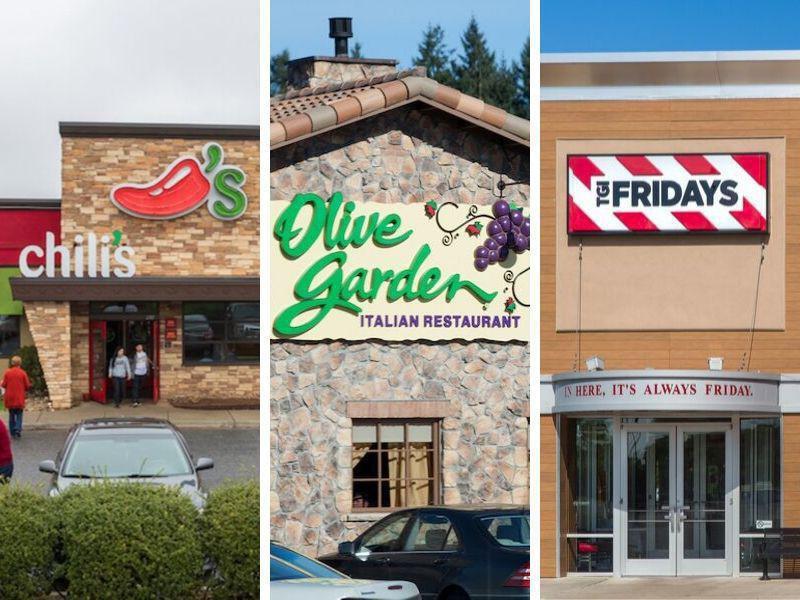 Most Popular U S Chain Restaurants Ranked Far Wide