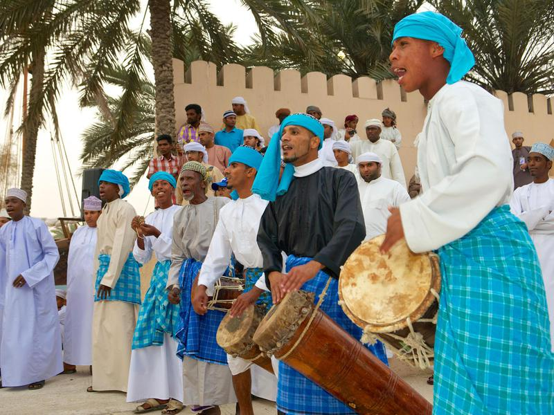Oman's vibrant culture is shared by welcoming locals.