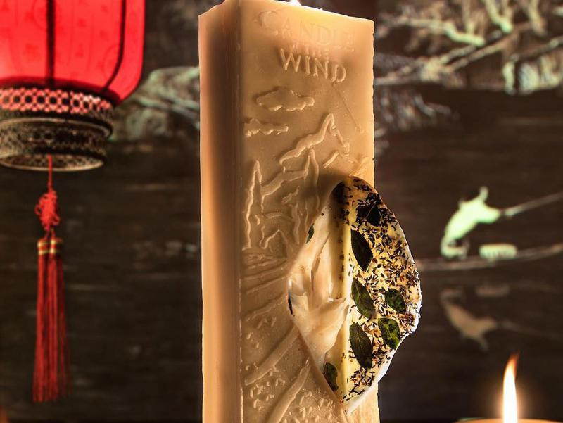 """Ultraviolet aims for a multisensory experience with its boundary-pushing dishes. Pictured here: """"Candle in The Wind,"""" featuring fragrant lavender-honey-wax-sesame black cod."""