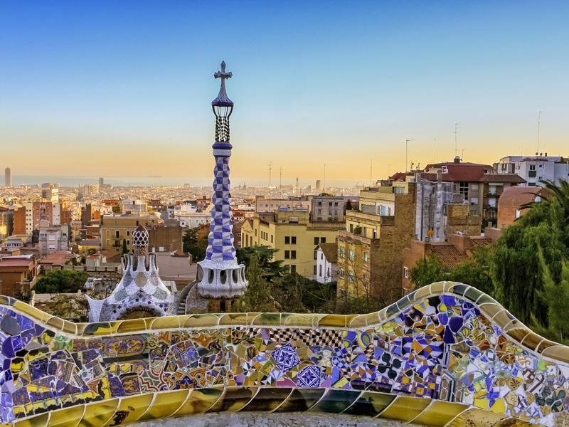 A view of Barcelona from Park Guell.