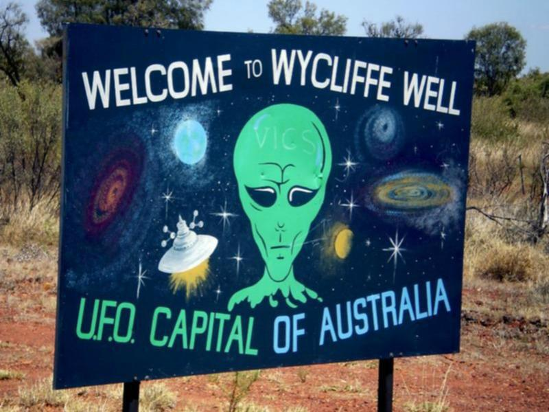 Wycliffe Well embraces its reputation as a UFO destination.