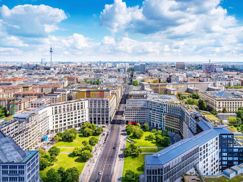 An aerial view of Berlin.