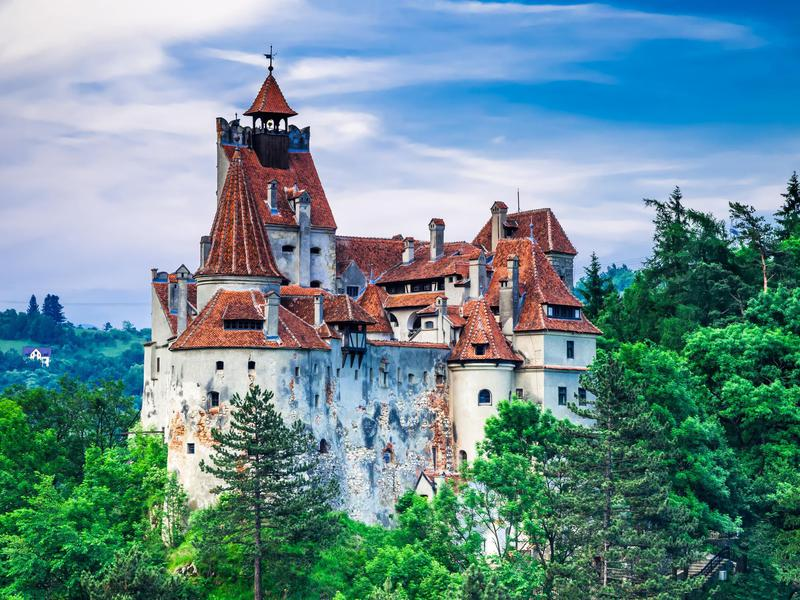 Bran Castle, a medieval castle, is a national monument in Romania.
