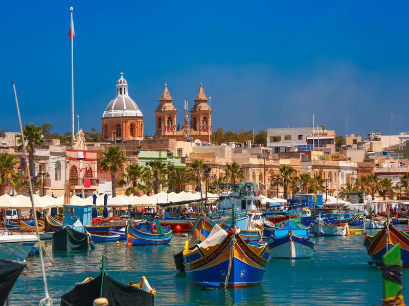 Marsaxlokk is a fishing village in Malta
