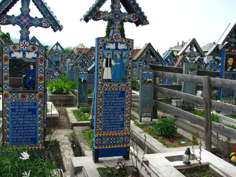 The crosses at Cimitirul Vesel are detailed works of art.