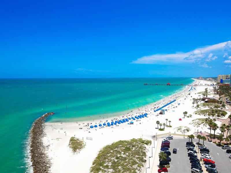 There are many ways swimmers can enjoy the water at Clearwater Beach, Florida.