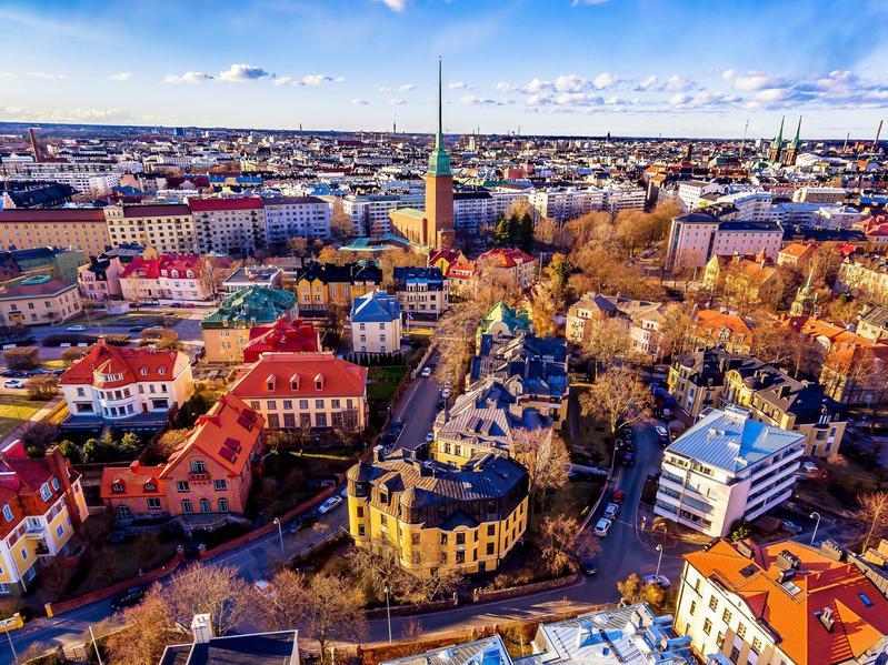 Historic downtown Helsinki.