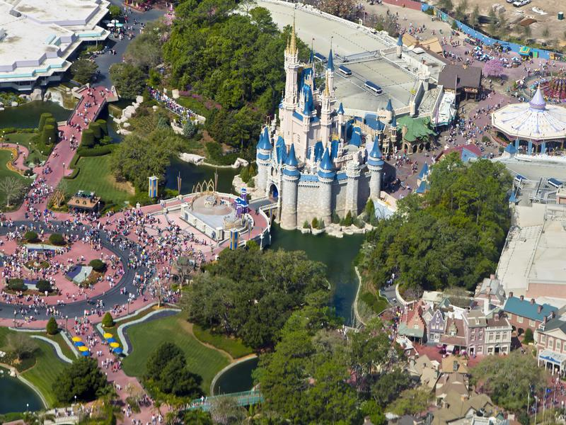 Walt Disney World Magic Kingdom in Orlando attracts more visitors than the California park.