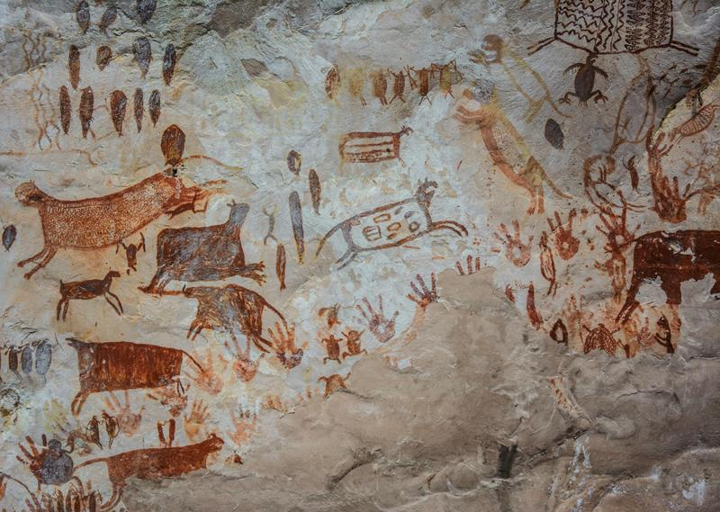 Located in the north-west Colombian Amazon, Chiribiquete National Park features more than 75,000 wall paintings, dating from 20,000 BCE to the present day.