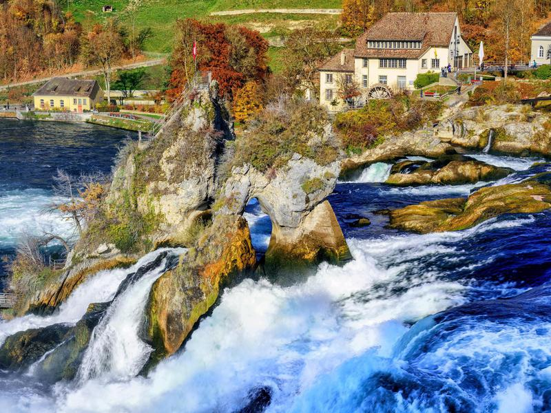 There are many unique ways to enjoy the wonder of Rhine Falls.