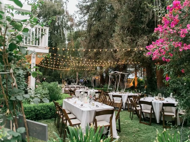 This $2,000 a night property in the Walnut Acres neighborhood of Los Angeles is outfitted for weddings.