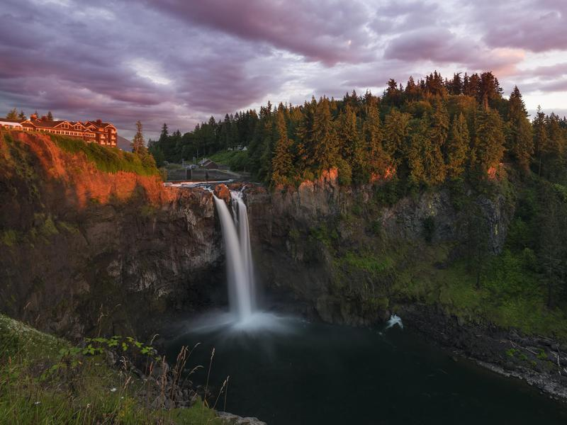 David Lynch fans may recognize Snoqualmie Falls.