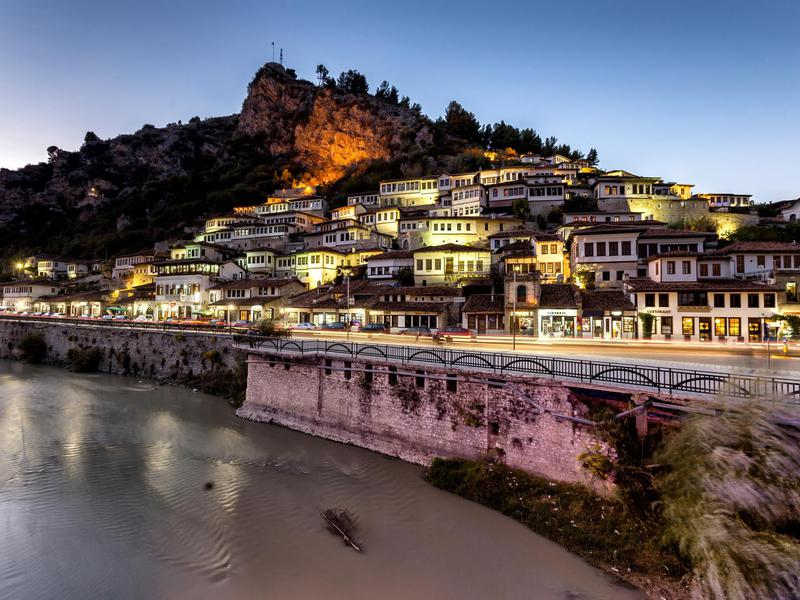 The small city of Berat in Albania.