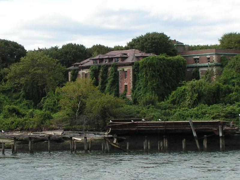 Riverside Hospital sits abandoned on North Brother Island.
