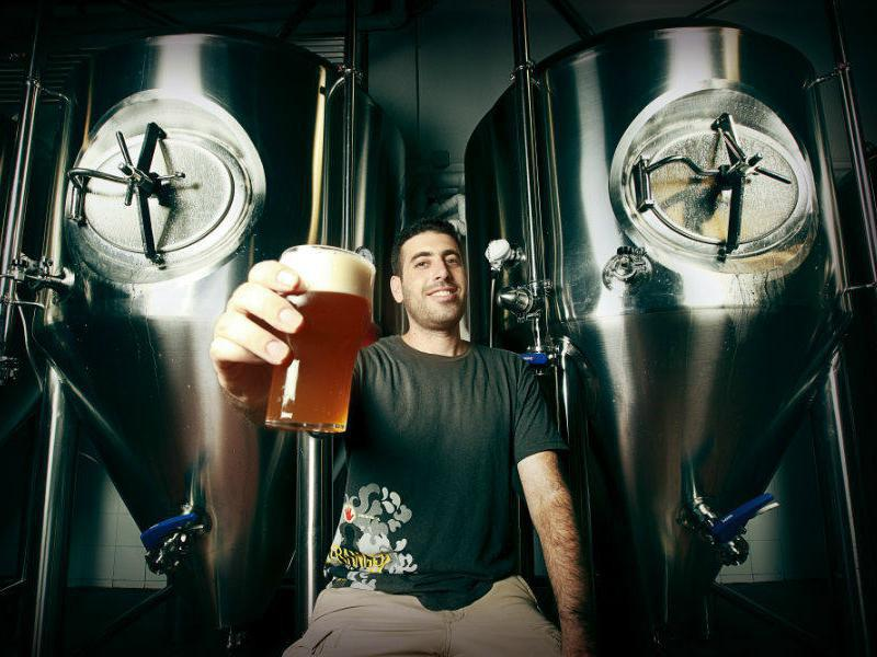 "Shapiro Beer is one of many microbreweries saying ""Cheers"" in Israel."