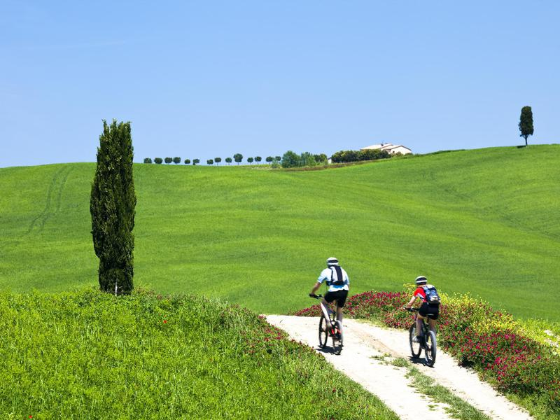 A Tuscany bike ride is both romantic and challenging.