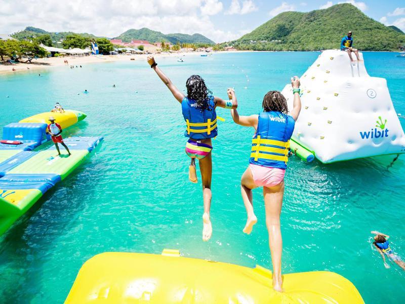 Los niños (y los niños de corazón) amarán los desafíos lúdicos en Splash Island.