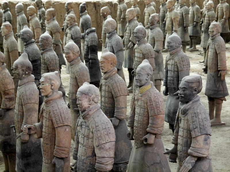 Some Terra-Cotta warriors are visible to the public — but the vast majority remain off limits.