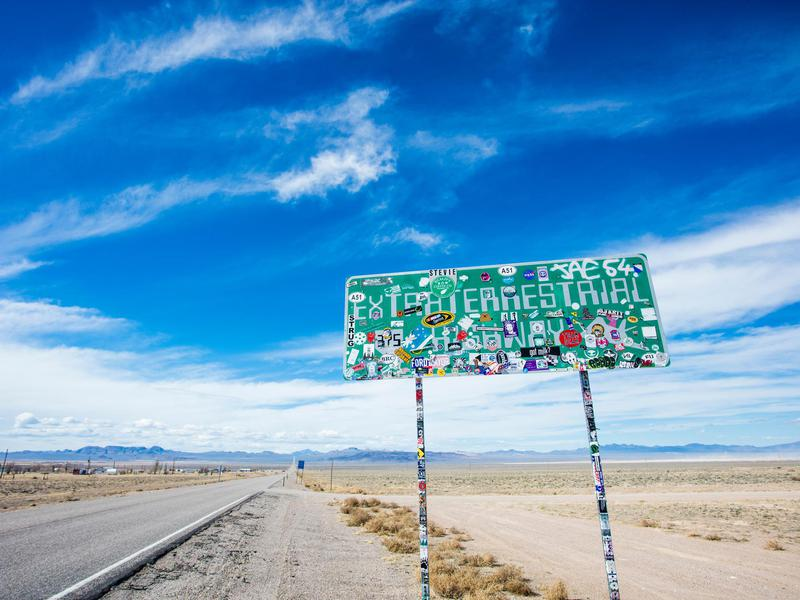 Area 51 is located off the aptly named Extraterrestrial Highway