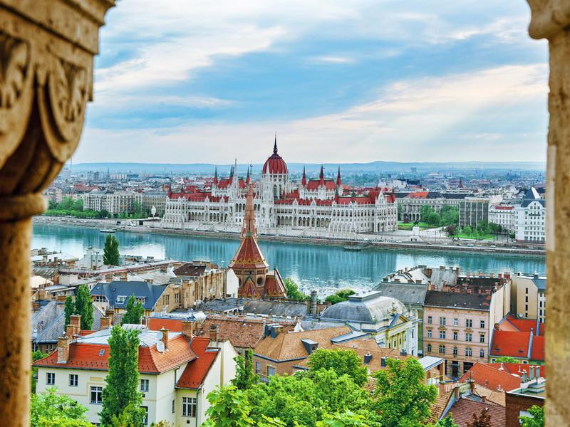 View of Budapest from the Fisherman Bastion.