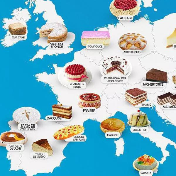 Take a Look at These Amazing, Mouthwatering Food Maps