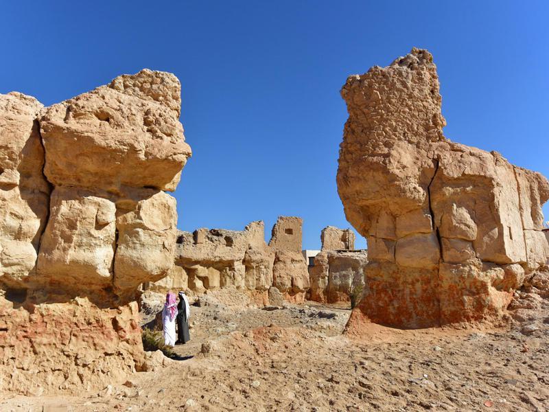 At-Tehamiyah village remains at the AL-Ahsa Oasis in Saudi Arabia.