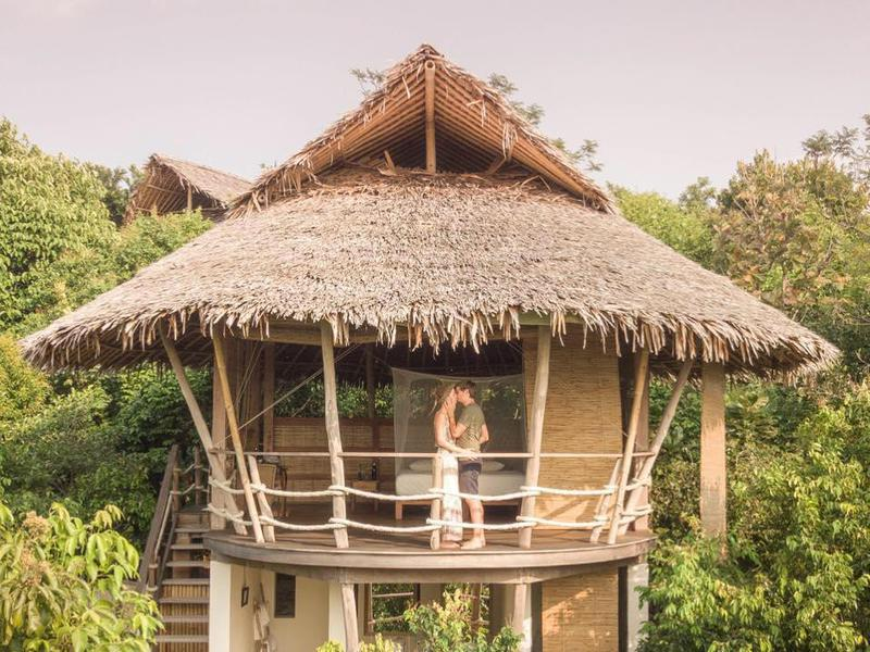 The Island Hideout's romantic treehouses are conveniently located near thrilling adventures.