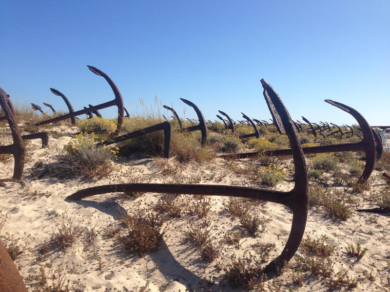 At this unusual cemetery, the fishing industry is memorialized.