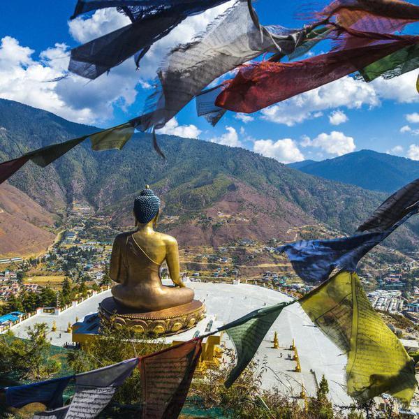 Great Buddha Dordenma is a gigantic Shakyamuni Buddha statue in the mountains of Bhutan , near Thimphu, the capital