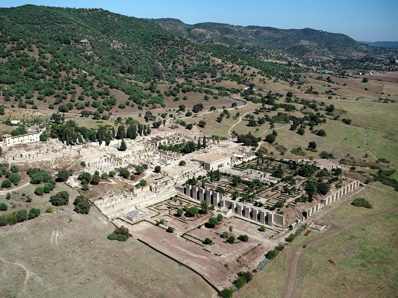 The Caliphate city of Medina Azahara was built in the mid-10th century by the Umayyad dynasty as the seat of the Caliphate of Cordoba.