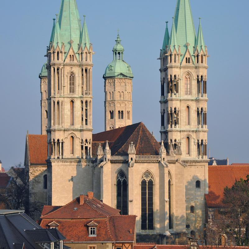 The Cathedral of Naumburg, whose construction began in 1028, is an outstanding testimony to medieval art and architecture