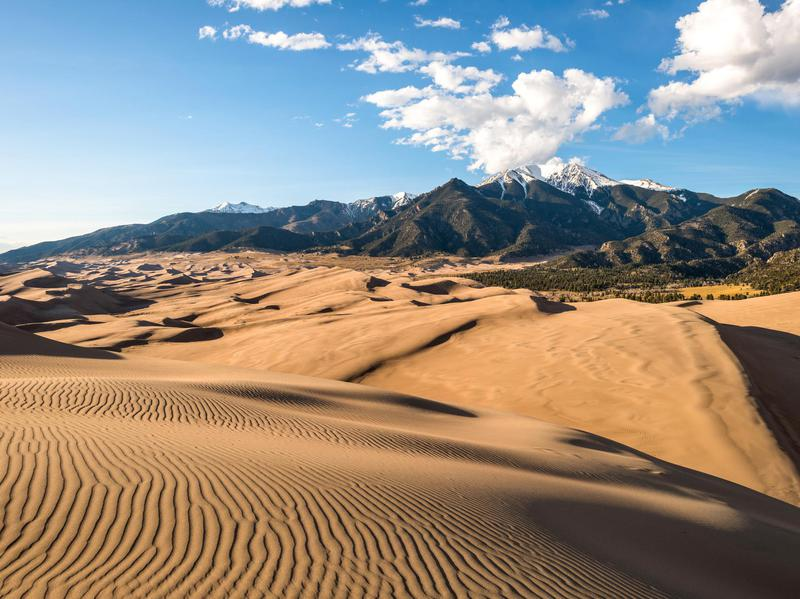 Colorado's Great Sand Dunes National Park was formed after a massive ancient lake receded.
