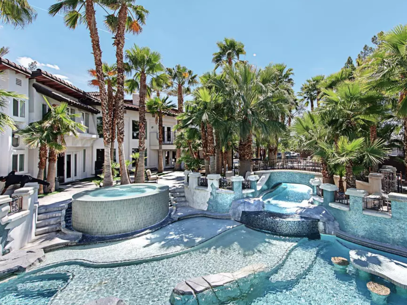 This Las Vegas estate isn't cheap, at $3,000 per night, but has 10 bedrooms.