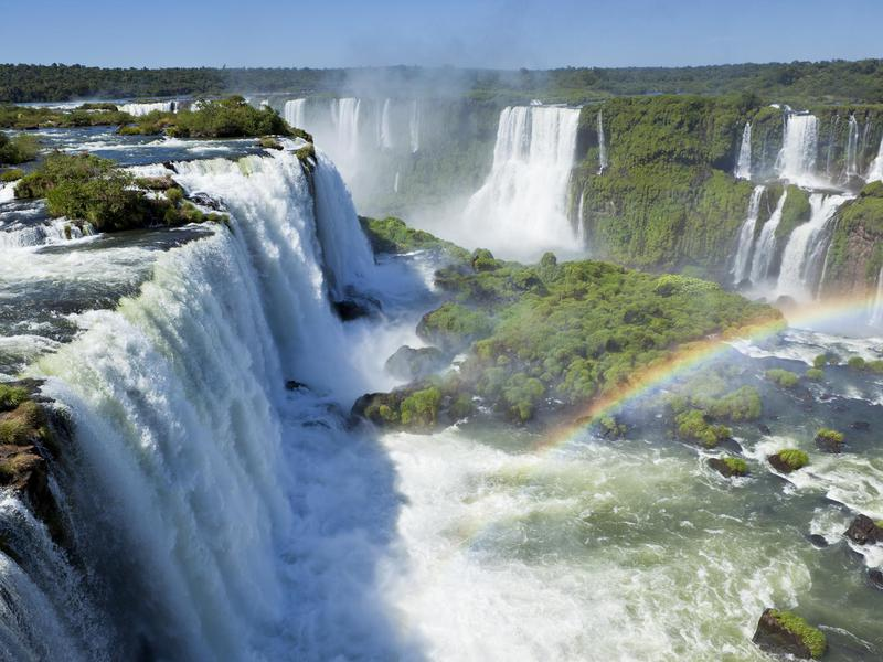 Argentina and Brazil share majestic Iguazu Falls.