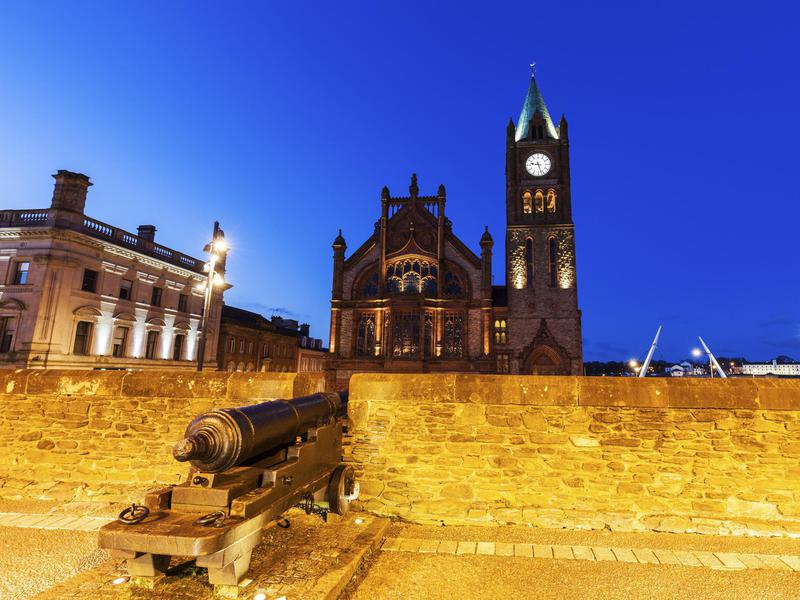 Guildhall in Derry, Ireland is among the the best Halloween destinations in the world, and there are a lot of them.