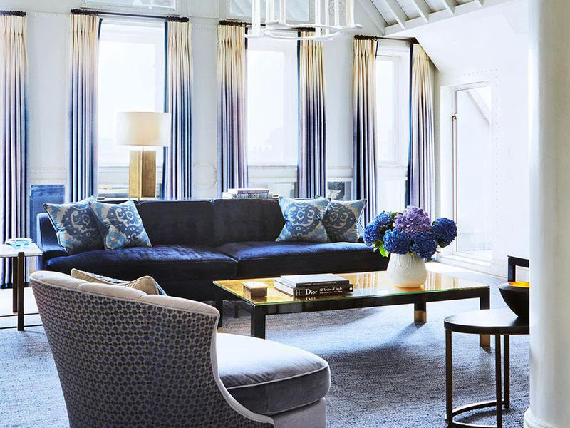 The aesthetic touch of David Collins, who designed many of London's finest establishments, is apparent in the stunning Apartment.