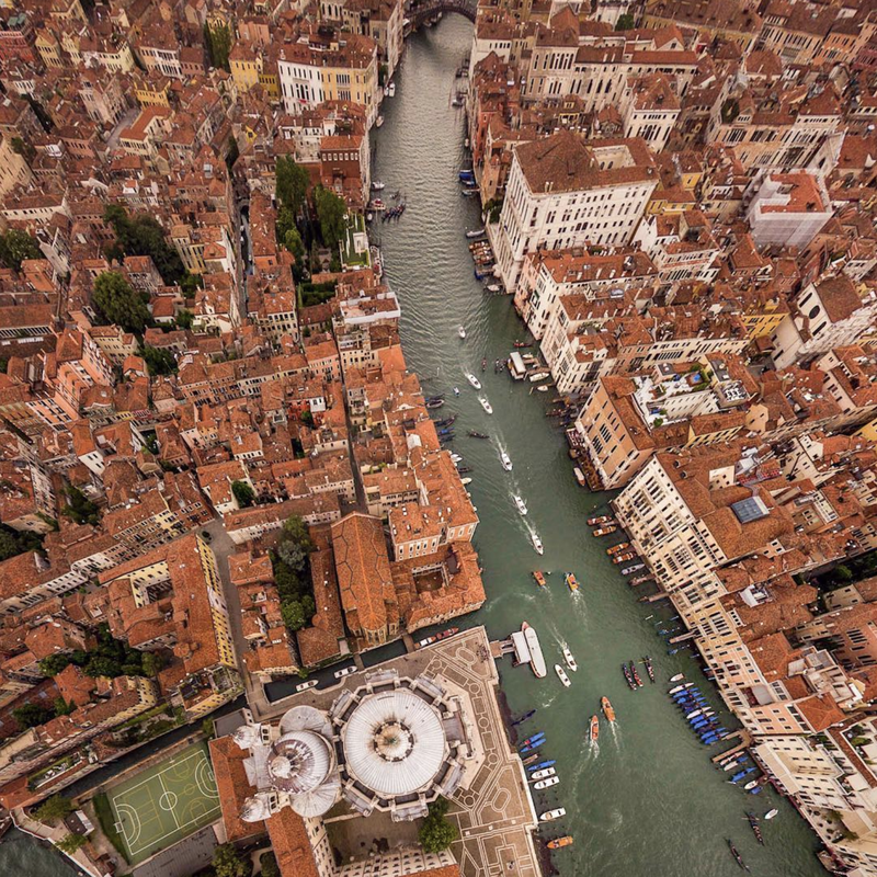 The Grand Canal in Venice looks even more grand from this angle.
